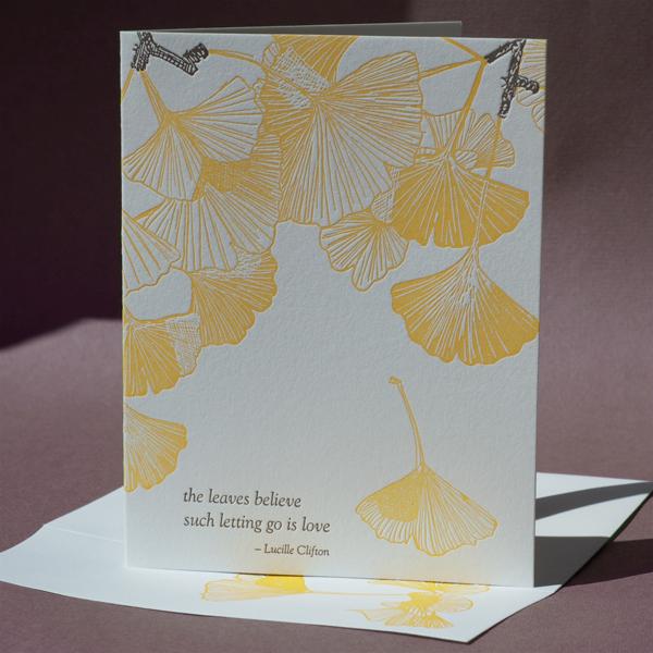 Ginkgo Sympathy Card